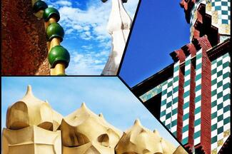 The three houses of Gaudi: Direct entrance to Casa Batllo, Mila and Vicens!