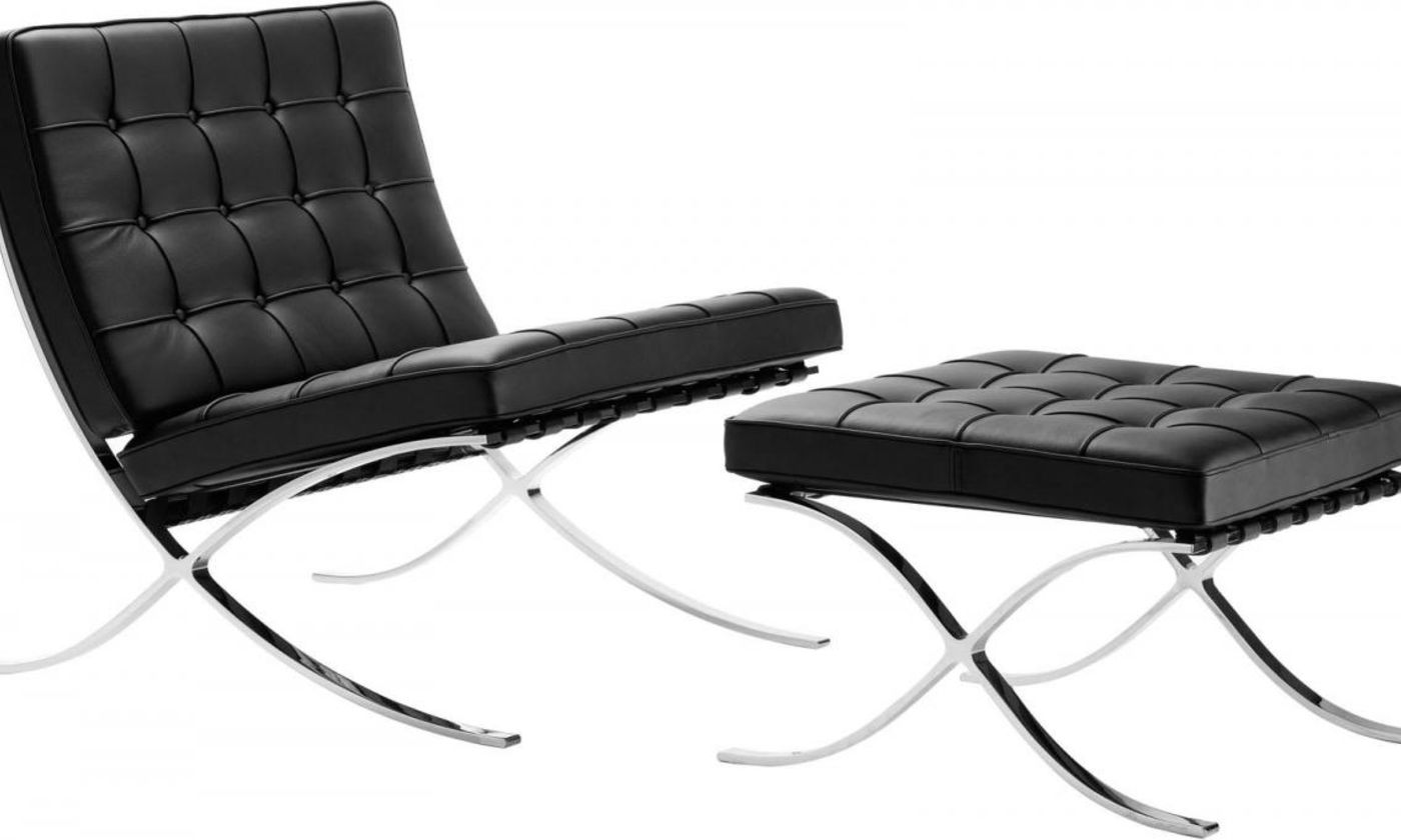la chaise barcelone de ludwig mies van der rohe la c l bre chaise barcelone. Black Bedroom Furniture Sets. Home Design Ideas
